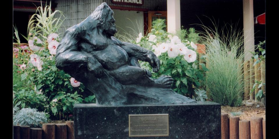 Gorilla Monument at the Denver Zoo