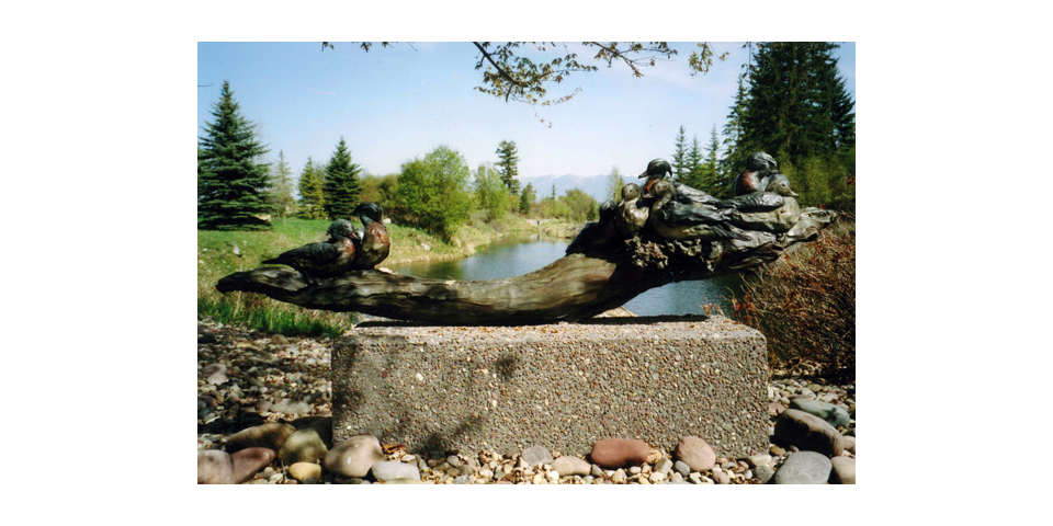 Wood Ducks on Still Water Monument